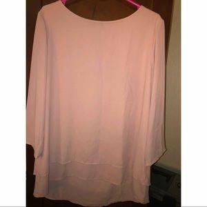 Layered Pink Blouse 👚